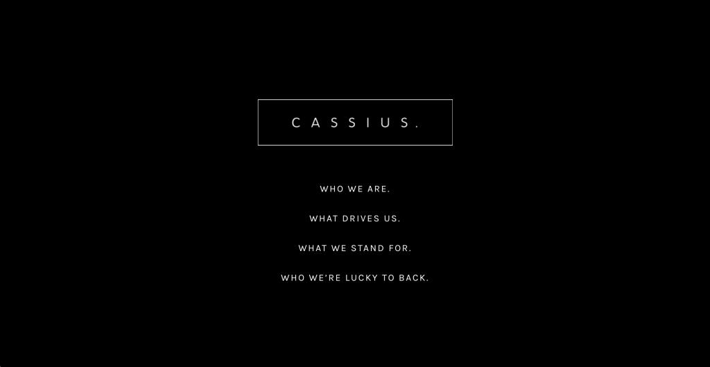 CASSIUS ウェブサイト